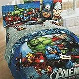 3pc Marvel Comics Avengers Twin Bedding Set Superhero Halo Comforter and Sheet Set