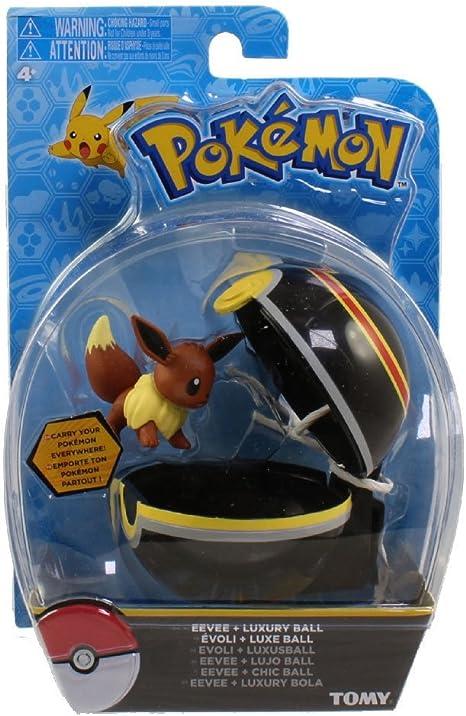 WCT Pokemon Clip N Go Eevee Evoli Poke Ball Figure Set Toy