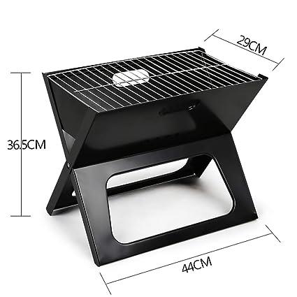 Tatkldisu X-Grill Barbacoa de carbón de leña portátil, Estufa de Barbacoa de carbón