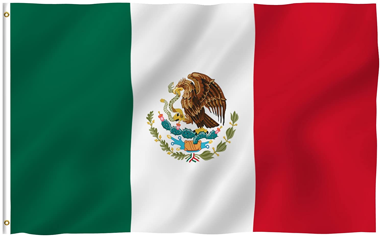 amazon com mexico flag polyester 3 ft x 5 ft mexico flag