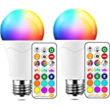 LED Light Bulb 85W Equivalent, Color Changing Light Bulbs with Remote Control RGB 6 Modes, Timing, Sync, Dimmable E26 Screw B