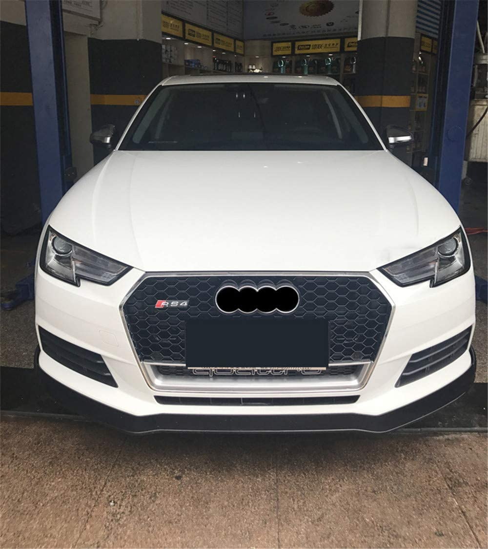 S4 B9 2017-2018 Xinshuo ABS Wabenart Mesh K/ühlergrill vorne f/ür RS4 Style A4