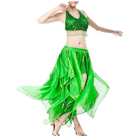 MISHUAI Vestido de Baile de Las Mujeres Falda de Danza del Vientre ...
