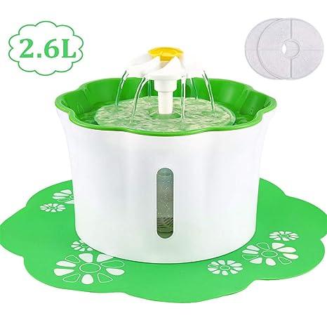 Amazon.com: BOBEastal Fuente de agua para gatos, 2,6 L/88 ...