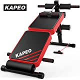 KAPEO トレーニングベンチ 腹筋 背筋 フォールディング フラットインクラインベンチ 折り畳み ダンベルベンチ ブラック耐荷重300KG メーカー1年保証