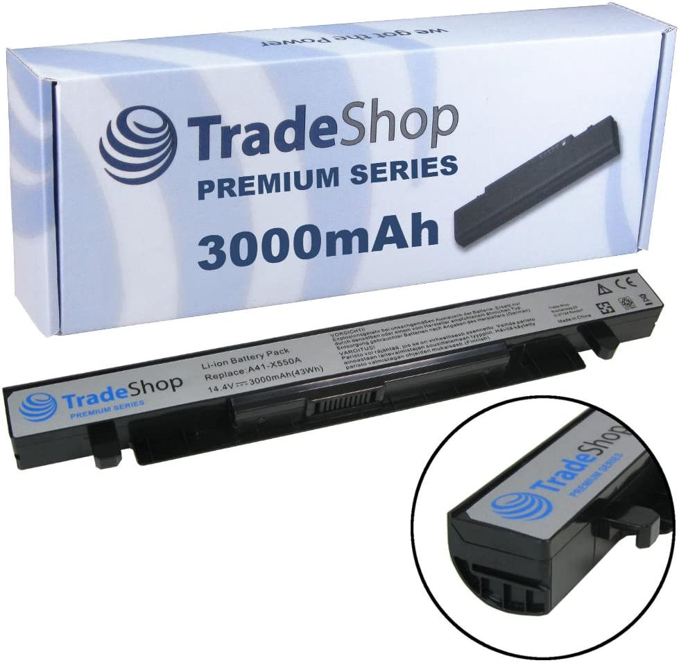 3000 Mah De Trade Shop Premium Series batería de ion de litio 14,4 V/14,8 para Asus r412e r412ea r412ep r412 V r412vp R510 R510 C R510CA R510CC NP-R510E R510EA R510L R510LA R510LB