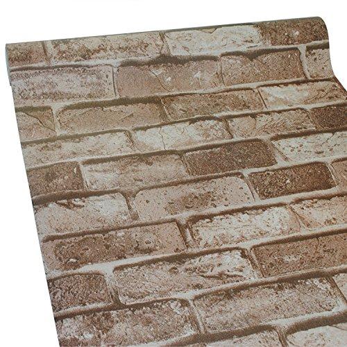 ZeroStage Rust Waterproof Peel And Stick Faux Brick Wallpaper Roll Apartment Decoration Wall Sticker New York Loft Type 5003