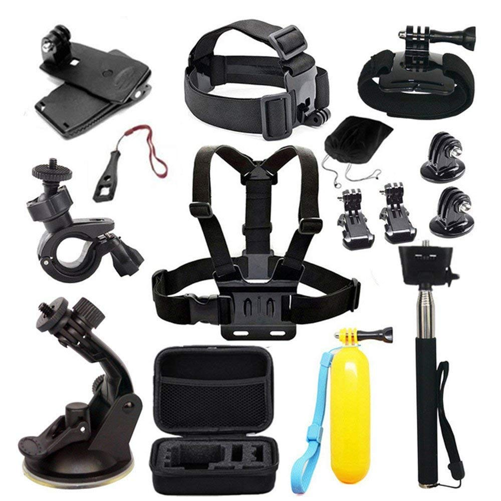 MRMASS Accessories for Gopro Hero 7 AKASO EK7000 Brave 4 Victure Crosstour Apeman VicTsing Action Camera Accessory Bundle with Case by MRMASS