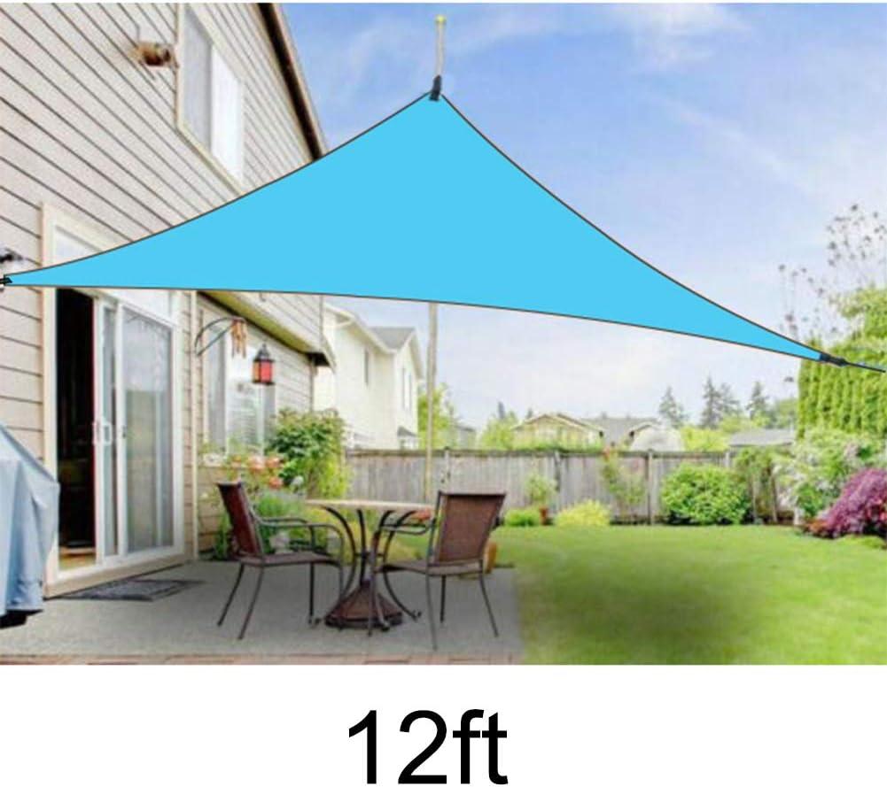 Gebuter Sun Shade Sail Triangle for Patio Yard Deck Pergola Outdoor Sun Sail Shade UV Block Sunshade UV Protection Canopy Outdoor Shade Triangular Rainproof Rainproof Awning: Amazon.es: Hogar