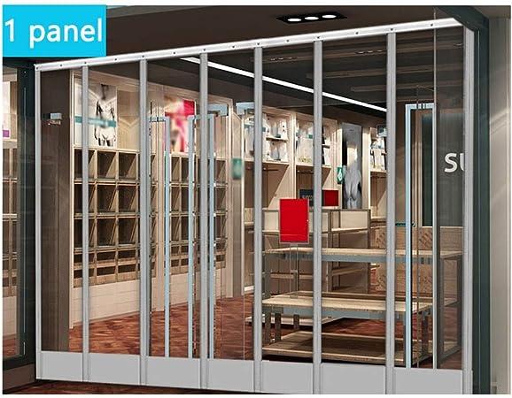 LJIANW Cortina De Puerta Magnético Puerta De Tela Metálica PVC Transparente A Prueba De Viento Divisores De Habitaciones For Puertas Domésticas Puertas Exteriores,1 Panel: Amazon.es: Hogar