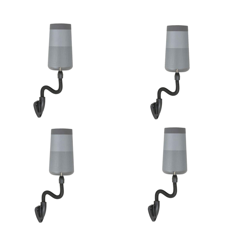 Wicked Chili Wand-Halterung kompatibel mit Bose Revolve//Revolve+ Schraubenhalterung mit /¼ Zoll biegsamer Schwanenhals schwarz 6,4 mm Gewinde zur Montage an Wand und Decke 4 St/ück
