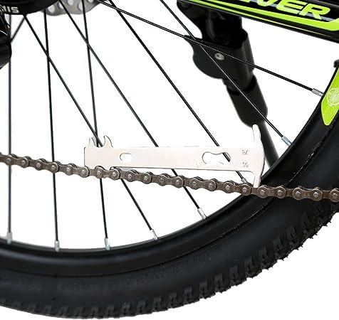 Yihaifu Fahrrad-Ketten Checker Edelstahl ersetzen Standard-Checker Fahrrad-Ketten-Checker-Fuss-Ketten Werkzeugkettenverschlei/ßgrad Mess