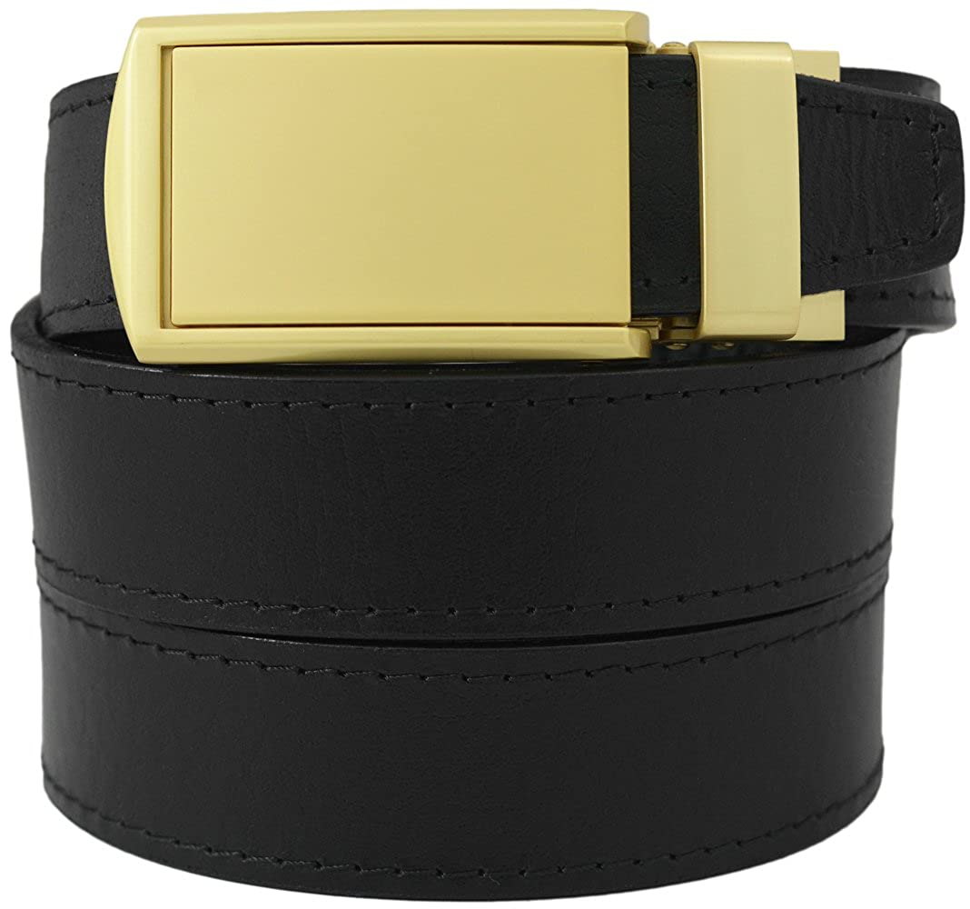 SlideBelts Factory Seconds Classic White Leather Ratchet Belt