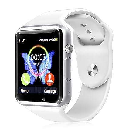 Kivors Reloj Inteligente Bluetooth Smartwatch con SIM Card Slot GSM para Usar como Teléfono Móvil,