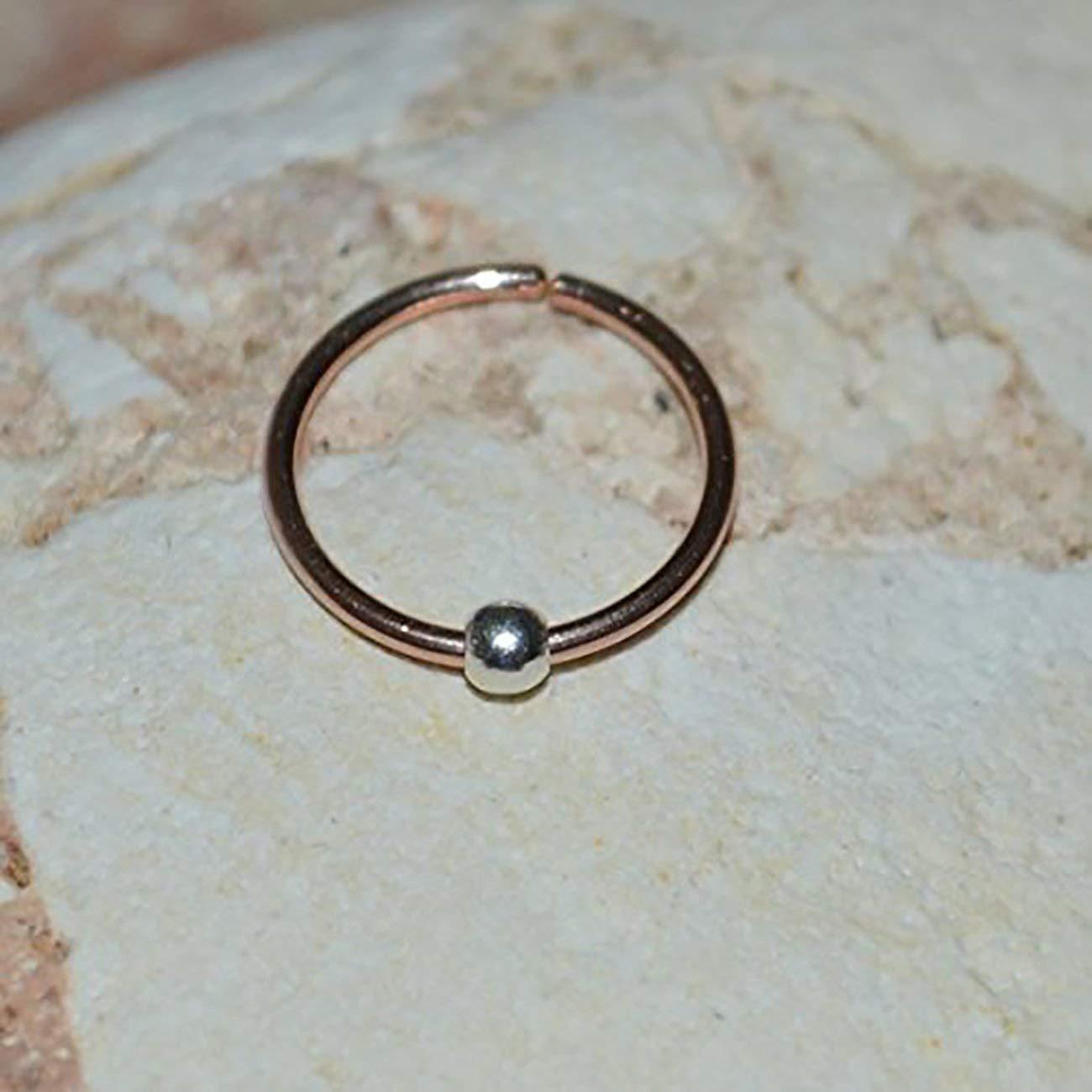49114088e TRAGUS JEWELRY // Gold Tragus Earring - Nose Hoop - Forward Helix Earring -  Daith Earring - Cartilage Earring 20g - Rook Piercing 20 gauge: Amazon.ca:  ...