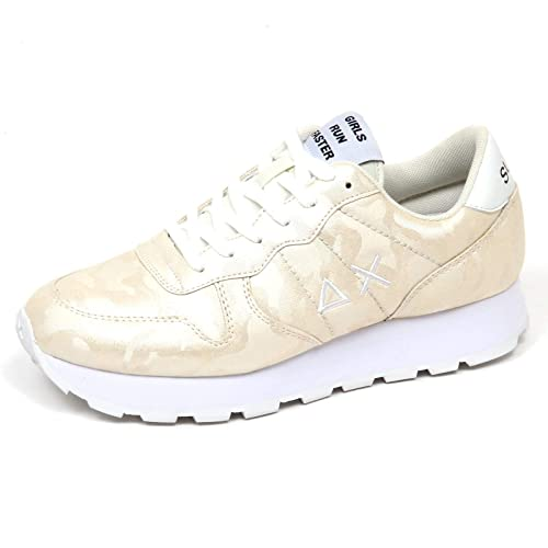 SUN 68 E9332 Sneaker Donna White Cream Scarpe Glitter Camouflage Shoe Woman   39   Amazon.it  Scarpe e borse aea9dcbdba4