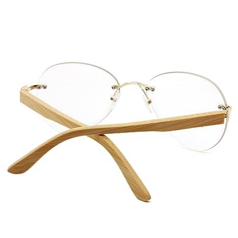 AMZTM Classico Moda Bambù Legna Senza Montatura Aviatore Occhiali Da Sole Da Donna e Uomo Guida Occhiali 100% Protezione UV400 Occhiali Da Lettura All'aperto RgDFT4