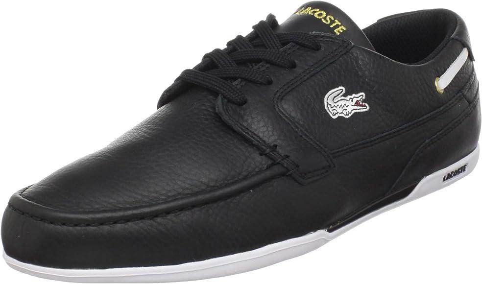 b6c2b637b92 Amazon.com | Lacoste Dreyfus (Men) Fashion Sneaker, Black/Gold, 7 M ...