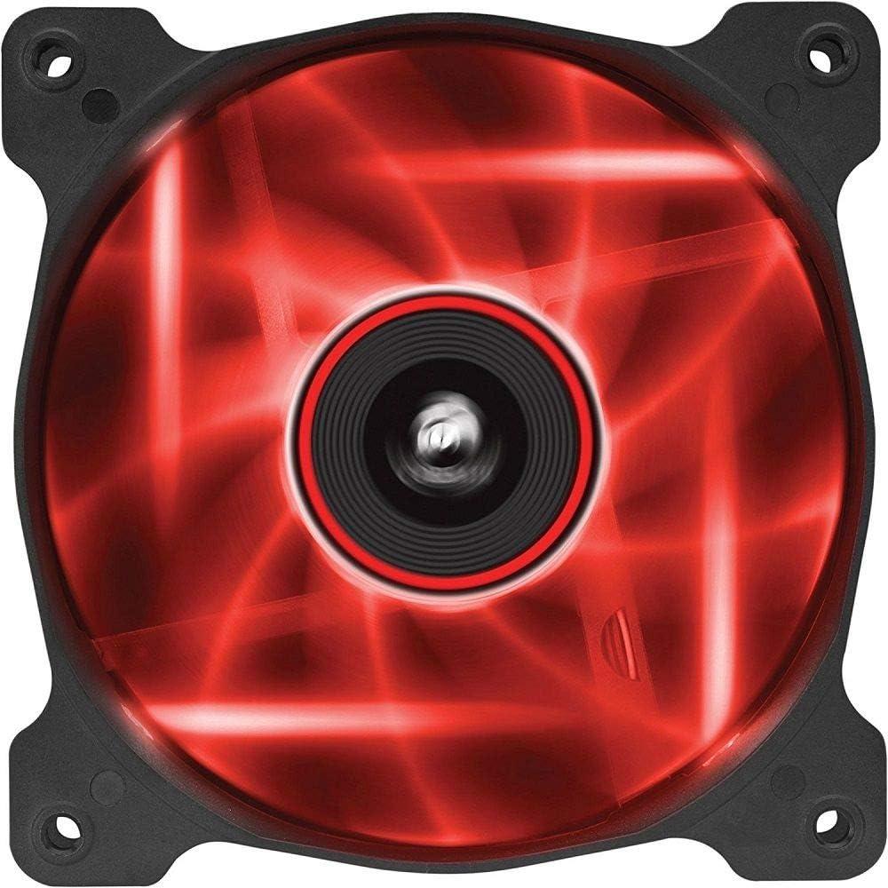 Corsair SP120 LED Ventilador de PC (120 mm, iluminación LED Rojo) Paquete Soltero