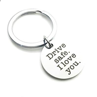 Aooaz Llavero Hombre Grabado Drive Safe I Love You Anillas ...