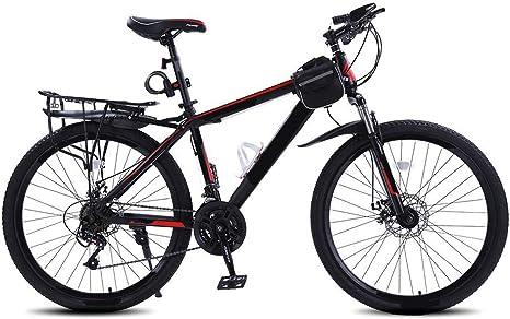 MH-LAMP Bicicleta Montaña, Bicicleta 27 Velocidades, Bikes 26 Pulgadas, Bicicleta de Montaña Guardabarros, Marco de Aluminio, Asiento de Liberación Rápida, Alta Velocidad Ajustable: Amazon.es: Deportes y aire libre