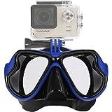 IXROAD Wide View Mutli-funzione di immersioni subacquee e snorkeling maschera con supporto per la macchina fotografica di sport di azione per esempio GoPro Eroe 1/2/3/3 + / 4 SJ4000 SJ5000 SJCAM etc.
