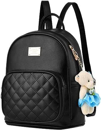I IHAYNER Mochilas para mujer para mujer y mujer, mochilas escolares, lindas niñas, adolescentes, piel sintética, pequeña mochila de oso de viaje