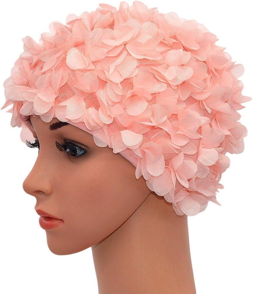 f/ür Damen Retro-Stil Medifier Badekappe mit Blumenmuster