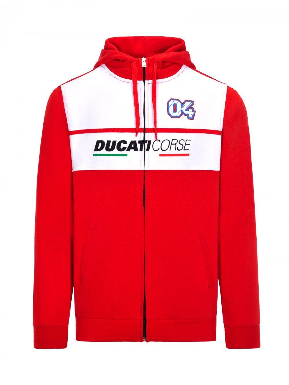 2018 Andrea Dovizioso  04 Offizieller Ducati Corse Herren Kapuzenpullover MotoGP Team