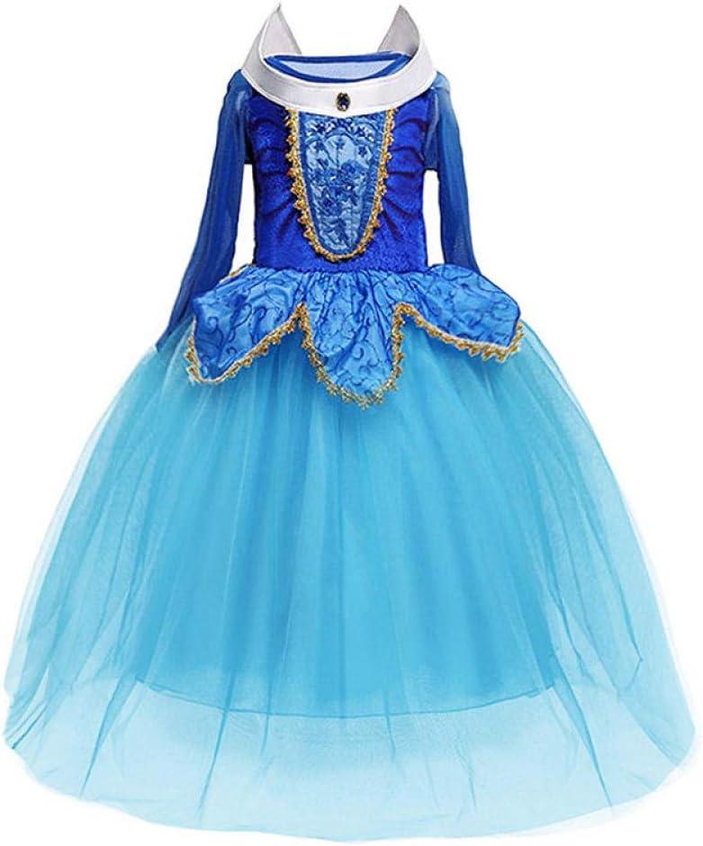 WNTYF Falda de Princesa Vestido de Princesa Amor Luo Vestido de espectáculo de Disfraces de Navidad para niños Adecuado para 3-8 años