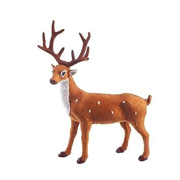 Bilder Rentiere Weihnachten.Luoem Deko Figur Weihnachten Rentier Weihnachten Tischdeko