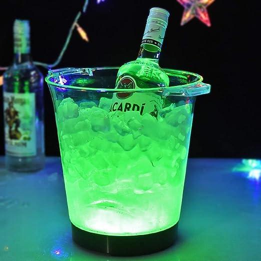 Cubeta de Hielo Ice Bucket Hielo Luminoso, con Asa De Transporte ...