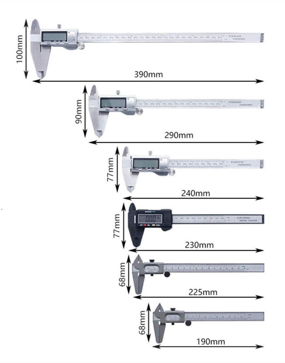Calibro a corsoio digitale Calibro digitale Display digitale Calibro a corsoio Calibro elettronico 150//200 300mm Calibro digitale quadrante in metallo 200mm