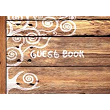 "Guest Book: Visitors Book/Guestbook (Wooden/Rustic design * Softback * 8.5"" x 6"")"