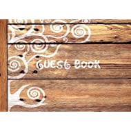 "Guest Book: Visitors Book / Guestbook (  Wooden / Rustic design * Softback * 8.5"" x 6"" ) (Sign in Books for Weddings, Birthday, Funerals & Hospitality)"