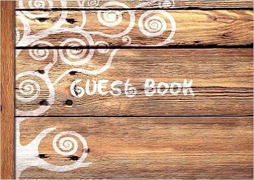 guest book visitors book guestbook wooden rustic design softback