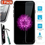 Hyperia Glass Screen Protector for Apple iPhone8 Plus/iPhone7 Plus/iPhone6 Plus/iPhone6S Plus High Quality Tempered Glass Film, 2-Pack
