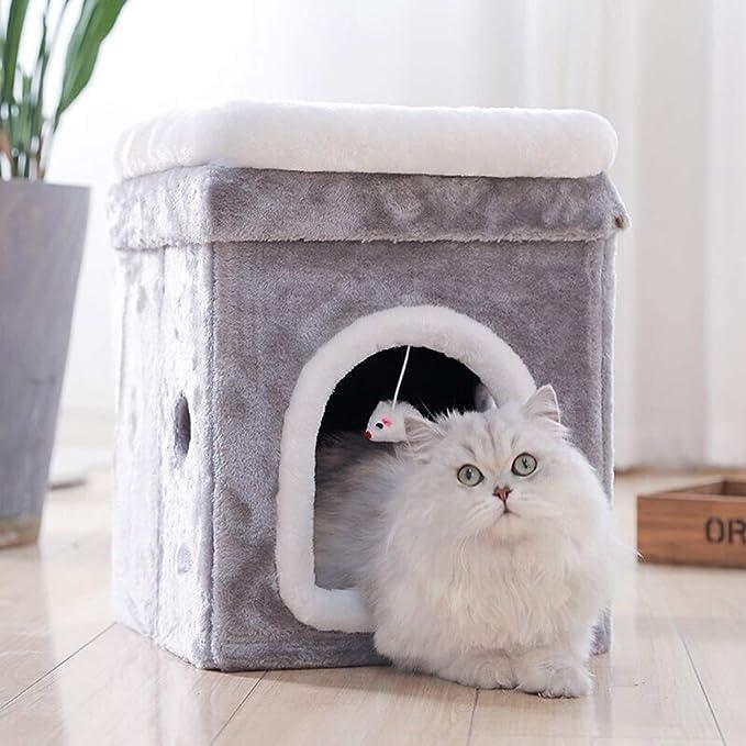 CHONX Apilables Cat Cubo Cama al Aire Libre y el Gato de Interior ...