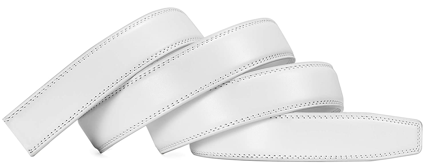 """CHAOREN Ratchet Belt Strap Only 1 1//8/"""" Replacement Leather Belt 1.25 without Buckle"""