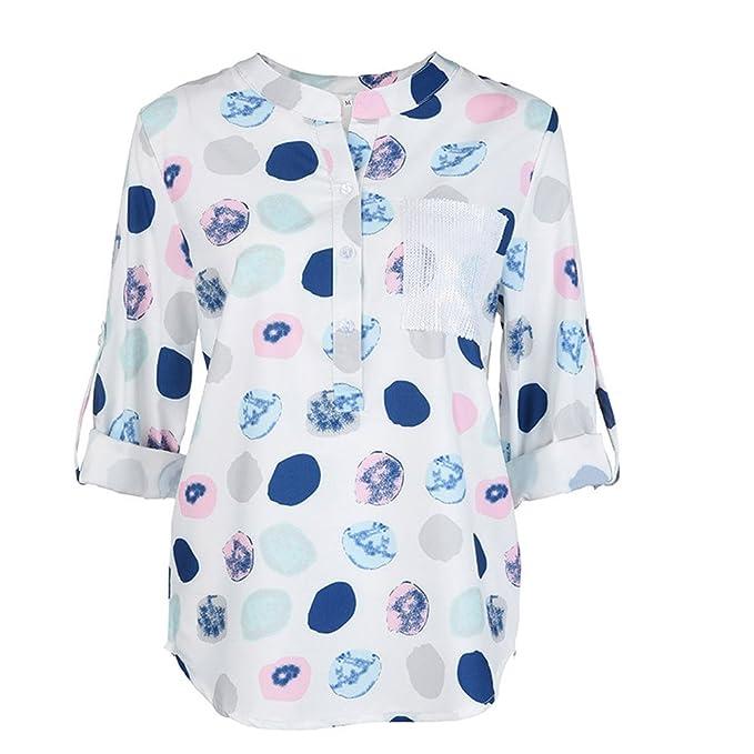 Kinlene Girl Camisas Mujer, 2018 Nuevo Blusas para Mujer Camiseta Sexy Gasa Tops Camisetas Mujer
