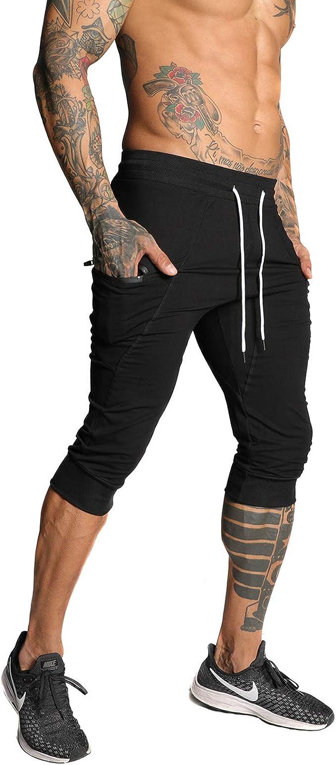 Amazon.com: SAMZUEO pantalones cortos casuales 3/4 para ...