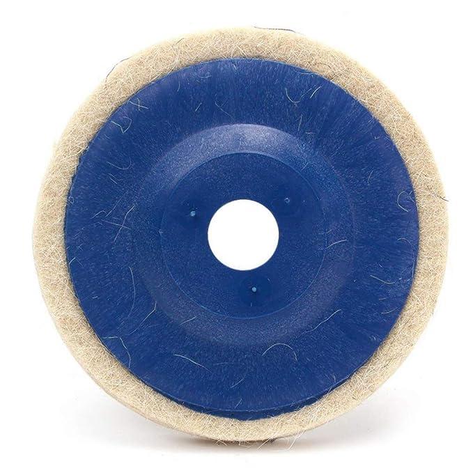 3pcs discos para pulir almohadillas pulidoras 100 grados de /ángulo amoladora ruedas de fieltro de pulido y el disco de 100 mm de 4 pulgadas
