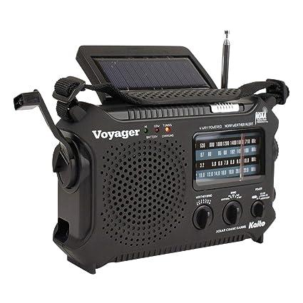 Radio Portatil Con Linterna para Emergencias Y Desastres para Usar Con O Sin Bateria Estaciones FM