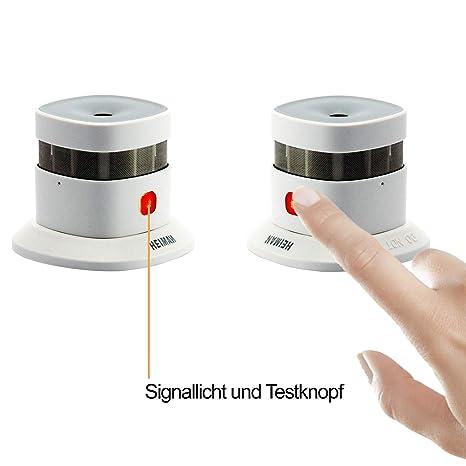 heiman 10 años Mini diseño Detector/Smart Smoke Sensor/Detector de humo (- Color Blanco - (2 unidades): Amazon.es: Bricolaje y herramientas