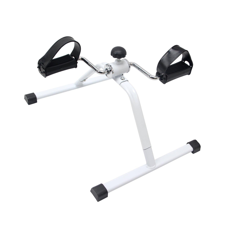 Amazon EXEFIT Exercise Bike Mini Bike Mini Desk Cycle for Legs and Arms Exercise Detachable White Sports & Outdoors