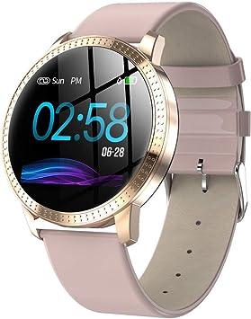 junchengdg Reloj Inteligente Mujer con Pulsómetro, Pulsera de ...