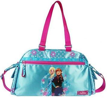 Disney Frozen Bolsa de deporte para niños, color azul y rosa ...