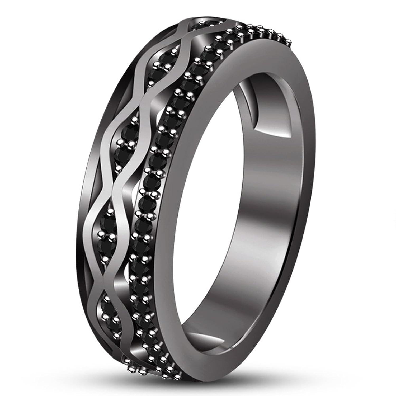 30cdb2a94d0a Envio gratis Vorra Fashion boda banda anillo de compromiso para hombres de  sólido 925 plata de