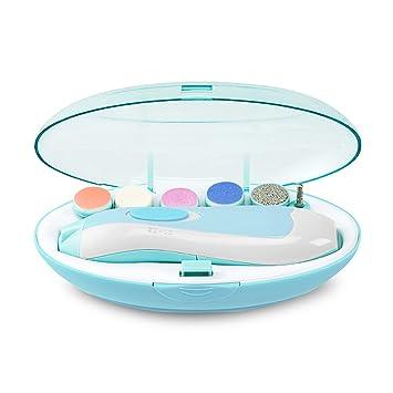 Elektrische Baby Nagelfeile Nagelknipser set 6 in 1 Manik/üre Pedik/üre Set Batteriebetrieben Baby Nagelpflege mit LED Licht