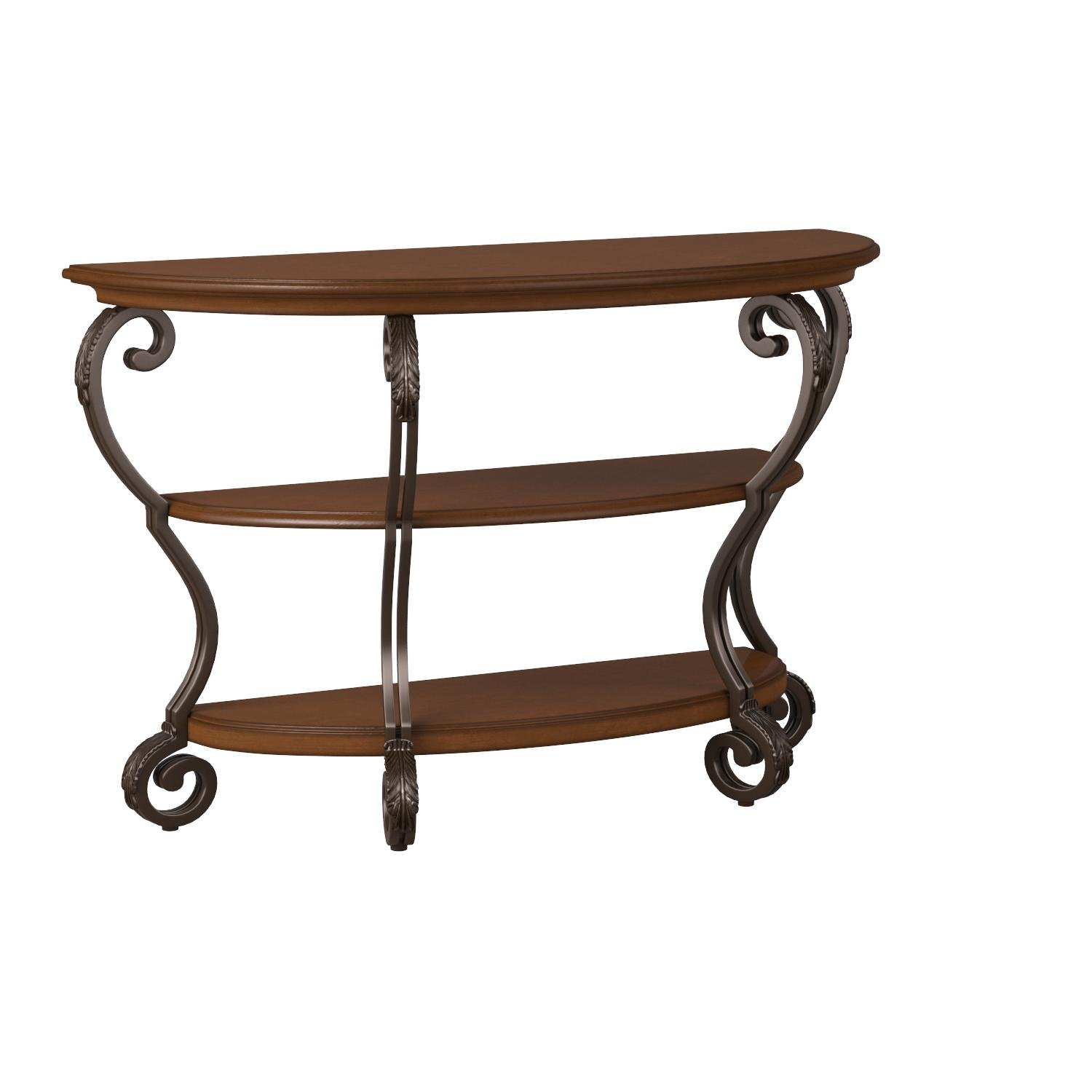 Awesome Details About Ashley Furniture Signature Design Nestor Sofa Table 2 Shelf Semi Circle Download Free Architecture Designs Terstmadebymaigaardcom